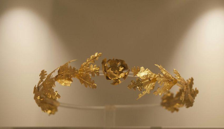 Gold Of Taranto Funeral Wreath Magna Grecia Marta Museum Ancient Mediterranean Story