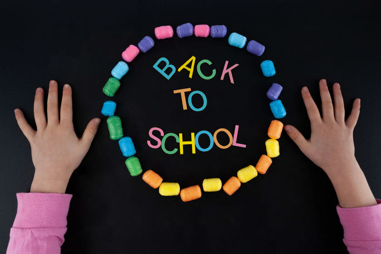 Design Back Back To School Background Banner Black Blackboard  Chalk Chalkboard Child Childhood Children Childs Hand Classroom Colorful Concept Creative Education Element Elementary Fun Isolated Learn Letters School Student Study Text Top View Typography Writing Young
