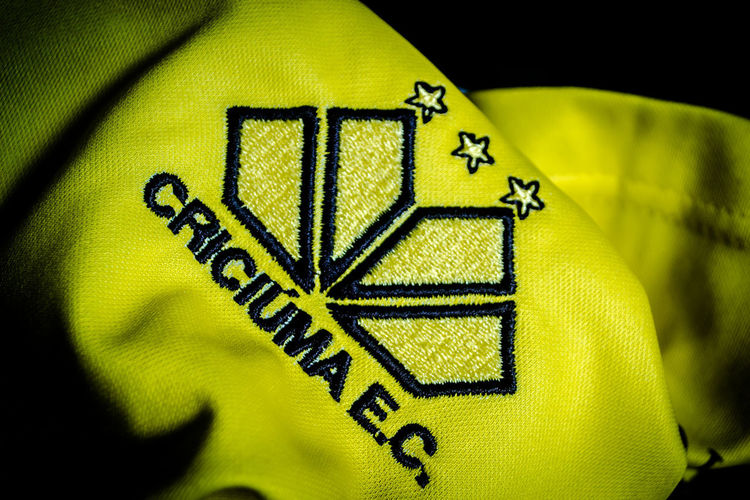 CRICIÚMA Logo Uniform Close-up Indoors  No People Soccer Soccer Team  Yellow