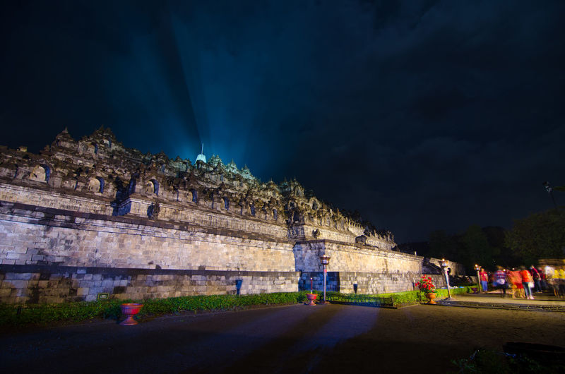 amazing lampion waisak / vesak at borobudur temple, indonesia Architecture Building Building Exterior Built Structure City Cloud - Sky Group Of People History Illuminated Mountain Nature Night Outdoors Plant Real People Road Sky The Past Transportation Tree
