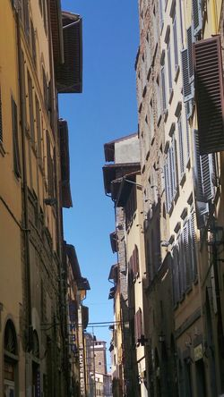 Architecture Building Building Exterior Built Structure City City Life City Street Day Firenze Florence Florence Italy Italy Low Angle View Narrow Street No People Old Buildings Outdoors Residential Building Residential District Residential Structure Sky Toscana Toscana ıtaly Toskana Toskana,italy