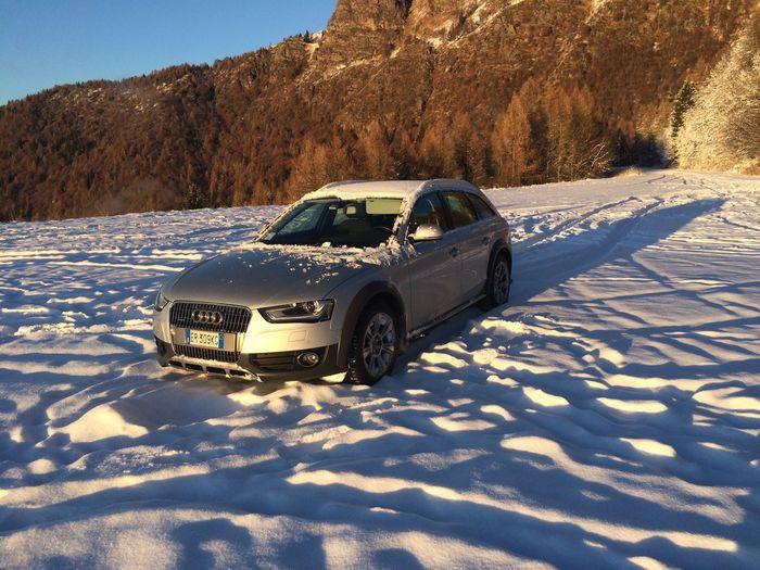 All Road Audi Car Cold Temperature Landscape Mountain Snow Sunset Transportation Winter MeinAutomoment The Drive