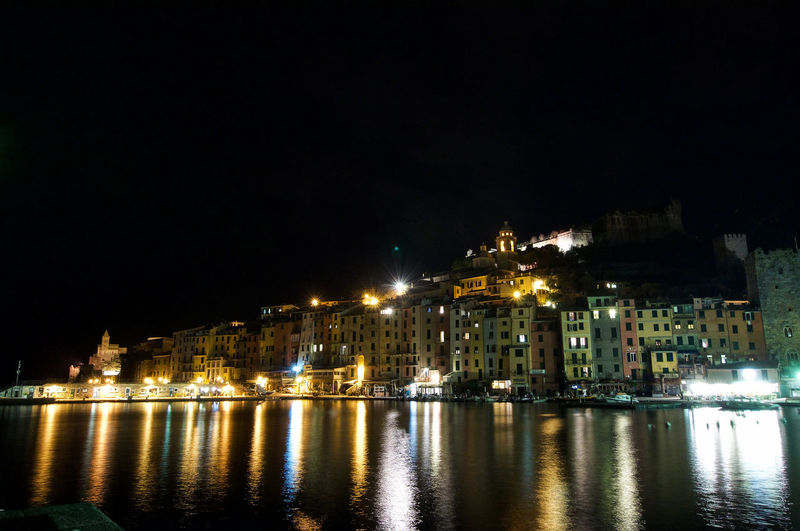Architecture Bridge - Man Made Structure Building Exterior Built Structure City Illuminated Mare Di Notte Night No People Notte Notturni Notturno Outdoors Portovenere Reflection River Sky Water Waterfront