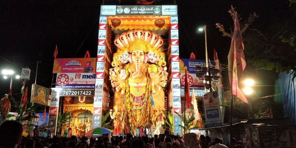 Ganesh God indian Hyderabad,India Sprituality God God Creation Ganesh GaneshChaturthi Ganeshfestival Ganesha Lord Of Success Ganeshotsav Ganesha Idol Ganesh2018 Illuminated Arts Culture And Entertainment Nightlife Neon Text