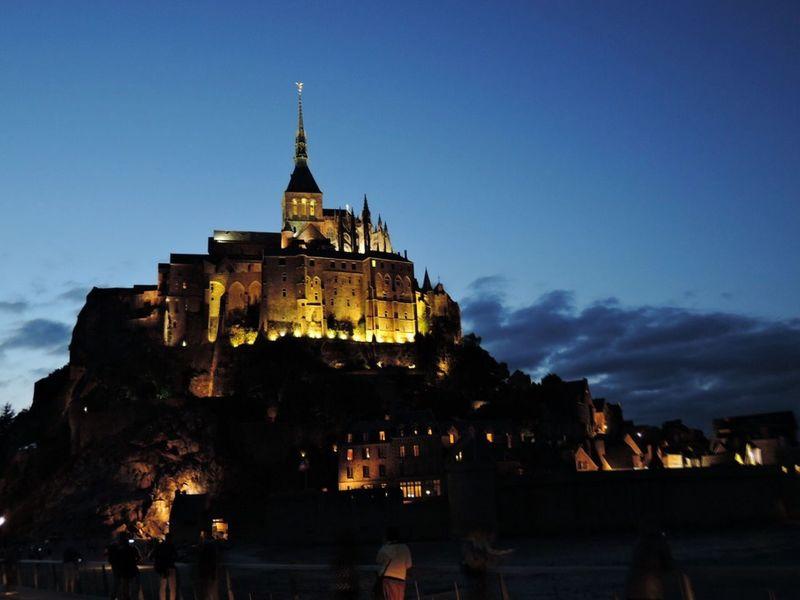 Mont Saint-Michel Mont Saint-Michel Abbey Night Scene Architecture History Night France GTGG