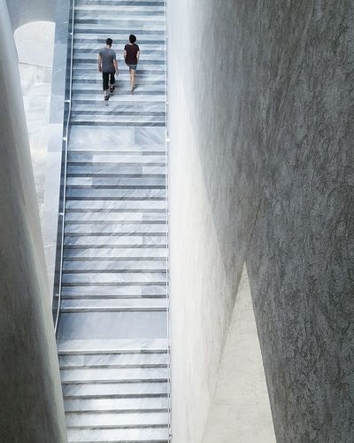 long way up Two Is Better Than One Stairs Kunstmuseum Couple Marble Concrete Architecture Minimalism EyeEm Deutschland Eye4photography  Clean Staircasefriday Stairway To Heaven Stairway Lookingdown Eyeemphoto Minimalistic Minimalist Kunstmuseum Basel Basel, Switzerland Minimalobsession People And Places My Year My View waiting game The Architect - 2017 EyeEm Awards