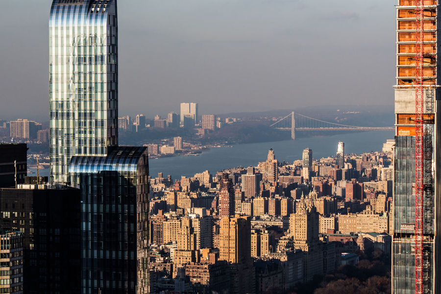 Built Structure Building Exterior Skyscraper Urban Skyline Tower Landscape Travel Destinations Cityscape Office Building Exterior Architecture City Office Water Building Modern Residential District Tall - High Sky Nature No People Financial District  Development Outdoors