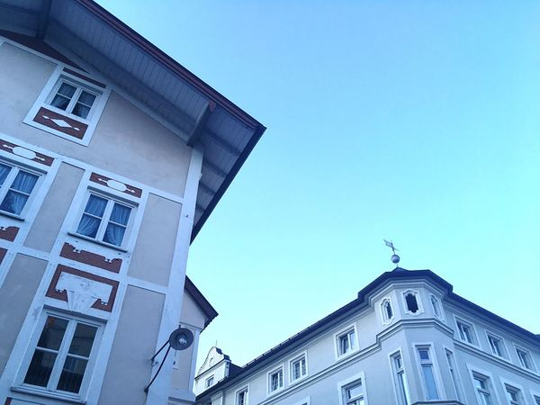 Bavarian City Bad Tölz Upper Bavaria Bavarian Architecture Architecture Architecture Bavaria Bavarian Cityscapes Cityscapes Building Exterior Built Structure Low Angle View Clear Sky Copy Space No People Façade Bavarian City House Bavarian Tradition City Houses High Section Sky One Color