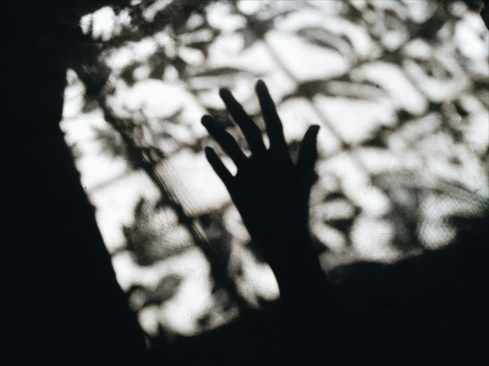 Shadows & Lights Shillouette Window Eyeem Philippines Human Hand Silhouette Palm Close-up Sky Finger Human Finger Index Finger Body Part Handprint Hand