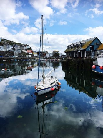 No Filter Nautical Vessel Moored in Beautiful Cornwall Boat Mode Of Transport Reflection Water Waterfront Travel Destinations EyeEm Best Shots Showcase July EyeEm Selects Colour Of Life Cornish Village Yacht Harbour Close-up My Point Of View EyeEm Gallery