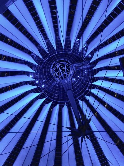 Architecture Pattern Low Angle View Built Structure No People Modern Day Outdoors Futuristic Sony Center Sony Center Berlin Berlin Photography West Berlin Berlin Berliner Ansichten Fractals Evening