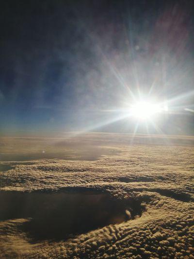 Clouds Tranquility Beauty In Nature Sunlight Sun Sky Sunny Cloud - Sky Majestic Non-urban Scene Scenics No People