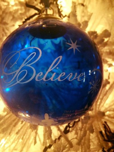 Christmas Ornament Blue Believe Polar Express