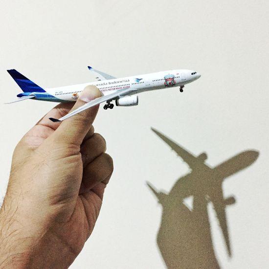My Favorite Photo Airplane Aircraft Diecast Garuda Indonesia Taking Photos Holiday Enjoying Life Jakarta
