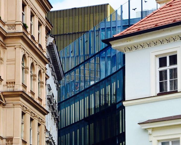 Old Old Buildings Beside Modern Architecture Great Glass City Cityscapes City Life Building Downtown Contrast Lovely The Architect - 2016 EyeEm Awards in Prague