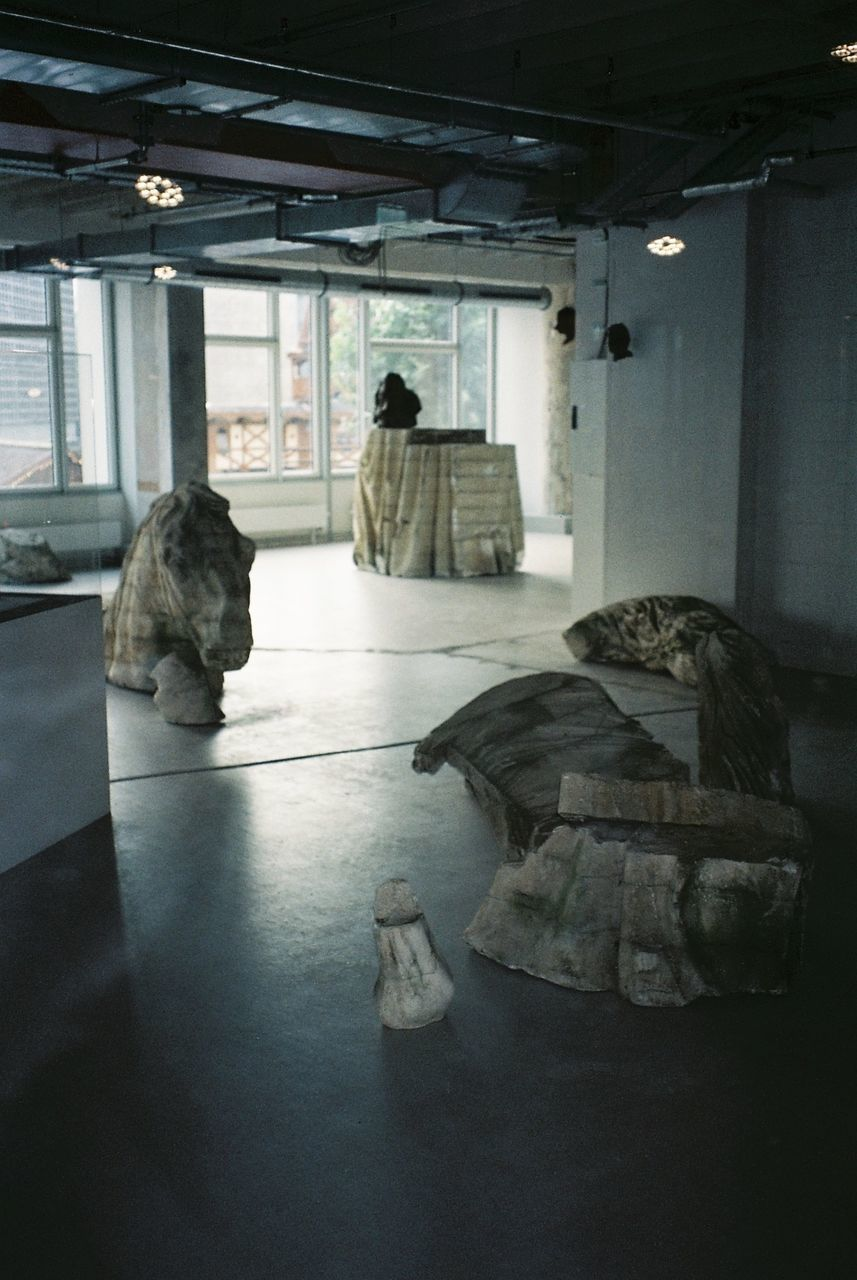 indoors, history, sculpture, statue, architecture, mammal, prison, no people, day