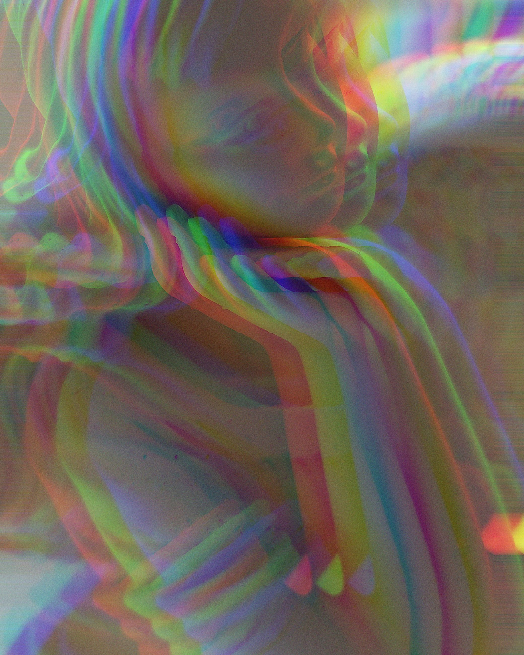 multi colored, abstract, motion, one person, pattern, indoors, women, close-up, long exposure, blurred motion, illuminated, real people, adult, light - natural phenomenon, nature, full frame, females, lifestyles, profile view, contemplation