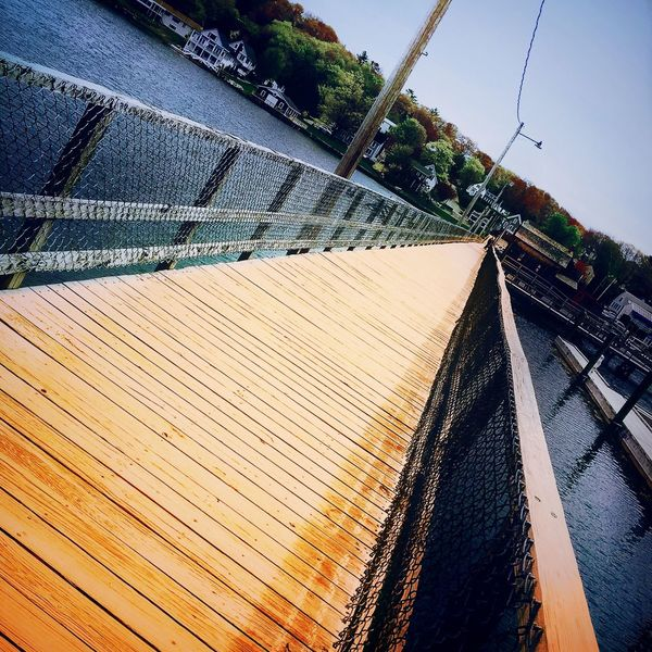 New Take On Old Photo Boothbay Harbor Maine Walkway