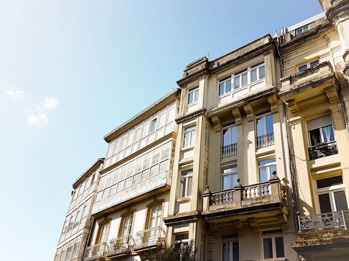 Architecture in Galicia Built Structure Building Exterior Low Angle View Outdoors No People Sky History Travel Destinations Personal Perspective Simplicity Beautiful Architecture