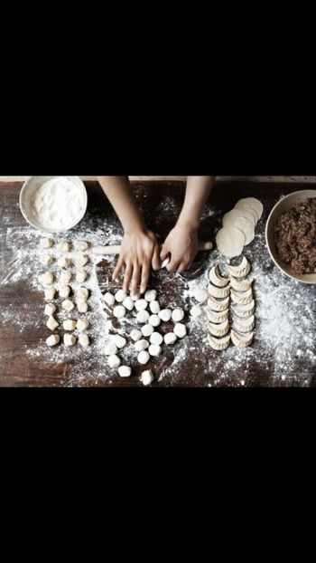 Impasto Carne Mezzelune Preparation  Flour Dough Making Indoors  Cookie One Person People Baking Sheet Homemade Adult Adults Only One Woman Only One Young Woman Only Human Hand Freshness Day Business Stories