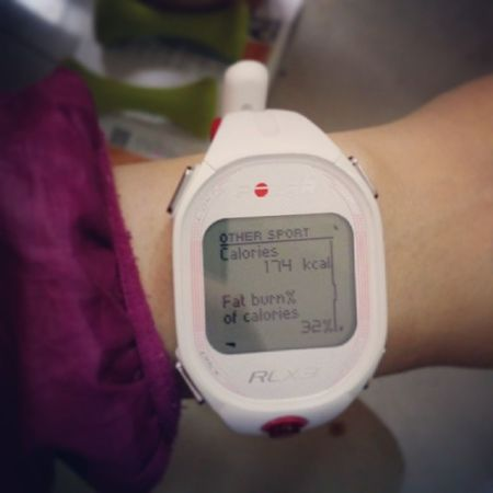 After doing T25 in the morning.... I love Sweating T25 is Always Awesome ~new arrival polar is awesome heart rate watch RCX3