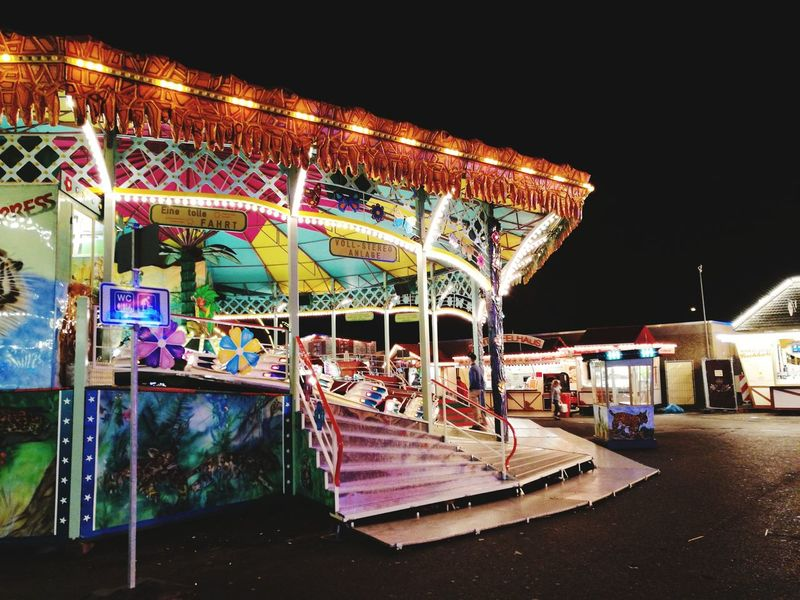 Amusement Park Night Arts Culture And Entertainment Multi Colored Amusement Park Ride Illuminated Fun Carousel Neon Outdoors No People Sky Frankfurt Am Main Event City Dippemess Fun The Week On EyeEm