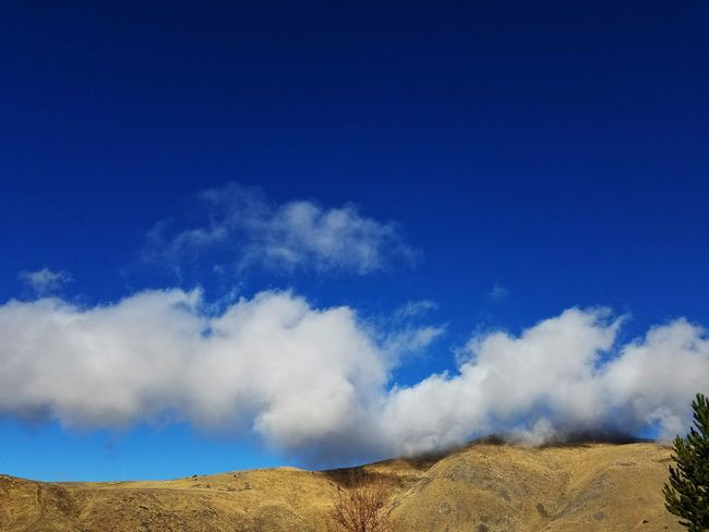 Clouds Surreal Tranquil Scene Mountain Shadows Quiet Cold Springs, Nevada Beautiful Blue Sky☁ Sky And Clouds Puffy Clouds Hill Solitude Desert Sunny Looks Good To Me Two Toned Blue Sky Natures Canvas