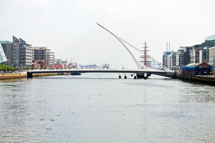 Architecture Bridge Brücke Dublin Engineering Fluir Fluss Ireland Irland Irlanda Liffey Puente River Samuel Beckett Bridge Travel Destinations Waterfront