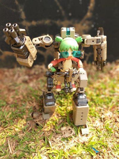 boom boom boom Futuristic Innovation Technology Robot Close-up Grass