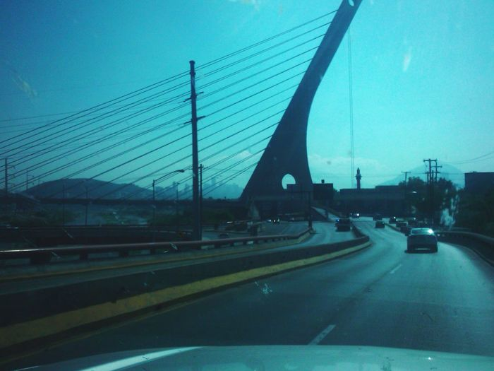 Transportation Land Vehicle Bridge - Man Made Structure Day Architecture Leo Sáenz Road Clear Sky In A Row Monterrey, México Mexico Road Car