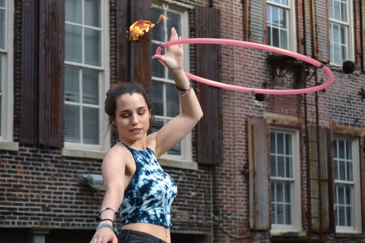 Taken on 5.28.17 EyeEm EyeEm Best Shots Eye4photography  Photography Taking Photos Taking Pictures Hello World Check This Out One Person Outdoors Outdoor Photography Only Women Memphis Tennessee Downtown Fire Hula Hooping  Young Adult Street Photography Streetphotography Model One Woman Only Close-up Colors The Street Photographer - 2017 EyeEm Awards