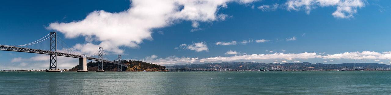 Scenic view of bay bridge