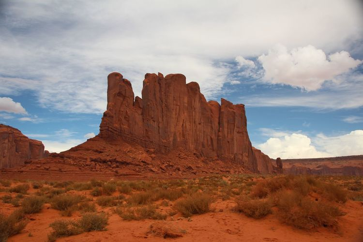 Beautiful monument valley Cloud - Sky Sky Non-urban Scene Rock Formation Rock Scenics - Nature Tranquil Scene Geology Tranquility Rock - Object Physical Geography Remote Beauty In Nature Land Landscape Environment Nature No People Solid Desert Arid Climate Formation Climate Outdoors Eroded