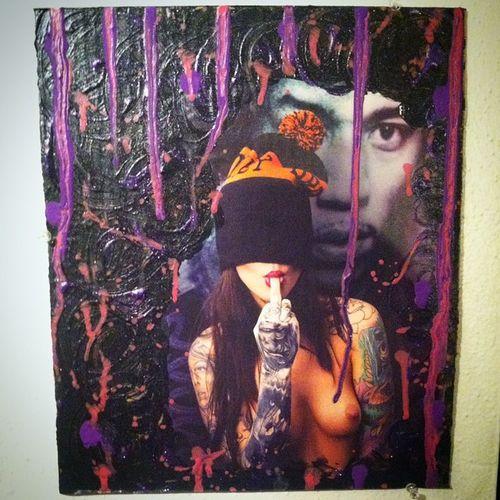 """Foxy Lady "" @foxillaa Jimi Hendrix @frontarmy frontmag art acrylic drip dripart gravityart painting"