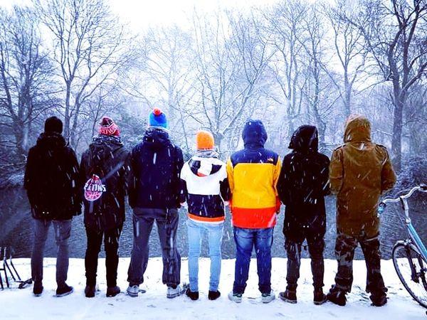 Squad Squadgoals Squad I Trust Family Friendship Snowing Cold Temperature Snow Nature Winter