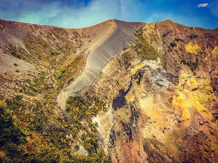 Geological Formation Volcano Sky Nature Day Beauty In Nature No People Scenics - Nature Land Sunlight Cloud - Sky Landscape Tranquility Tranquil Scene Environment Outdoors Non-urban Scene Pattern Sand Plant Full Frame Idyllic