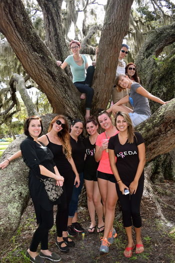 MIssing my days as an educator... I took my students to the park for some wellness and meditation. Class Education First ! Leisure Activity Lifestyles Outdoors Photograpghy  Spa Trees Wellness People Together