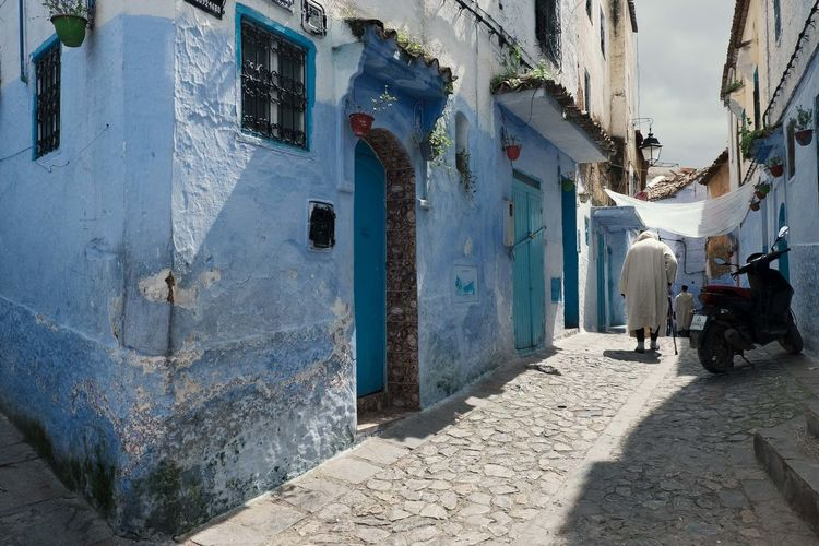 Local Morocco MoroccoTrip Sunlight TOWNSCAPE Tranquility Blue Built Structure Day Direction Local Life Street Street Photography Streetphotography Townscapes Tranquil Scene Tranquillity