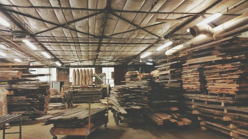 Got wood? Reclaimed Lumber Carpenter My Playground Chestnut Oak Workshop
