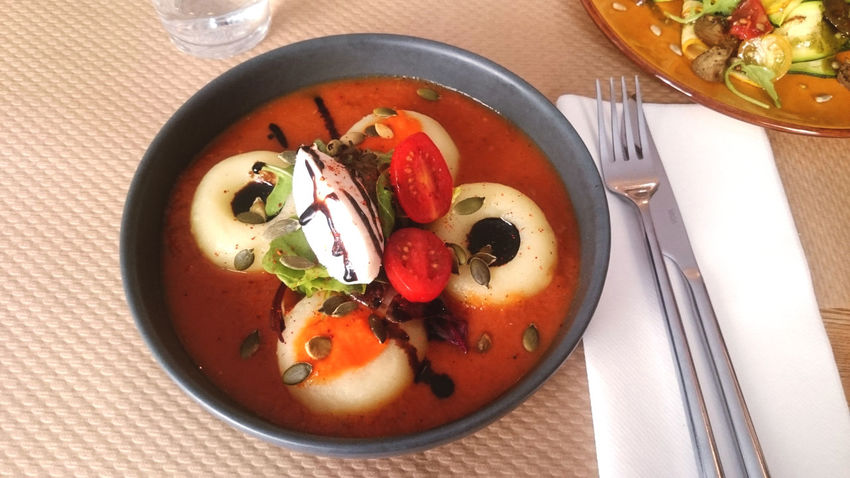 Appetizer Food Food And Drink Freshness Gnocchi Healthy Eating Meal No People Plate Ready-to-eat Spices Tomato Vegan Vegan Food Vegan Foodporn Vegetable