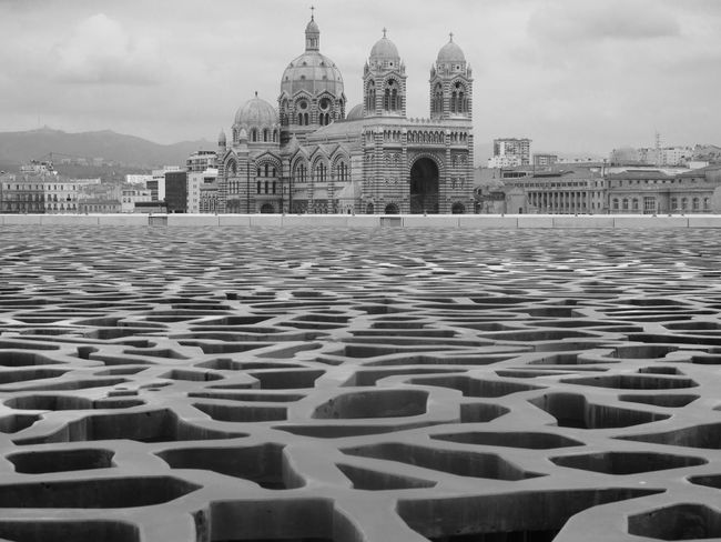 The Labyrinth & The Cathedral (Cathedral Sainte Marie Majeure, Marseille, Mar 2014) Ph. Valerio Corzani Cathedral France Labyrinth Marseille Marseille, France Mediterranean  Mediterranean Sea Bnw Cathédrale Sainte Marie Majeure Marseillerebelle Marsiglia Musee