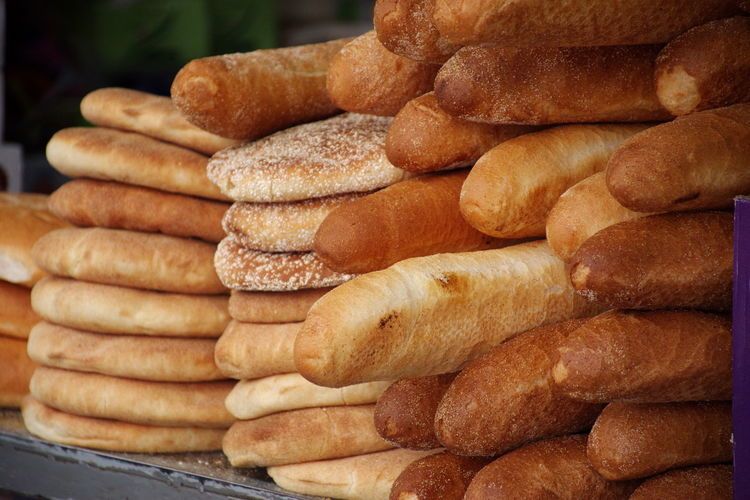 Closeup of bread loaves