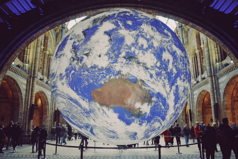 Museum Globe Earth World Group Of People Real People Built Structure Large Group Of People Architecture Men Leisure Activity Lifestyles Incidental People Day Crowd Travel Destinations Travel Design Indoors