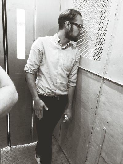 Jan In A Elevator