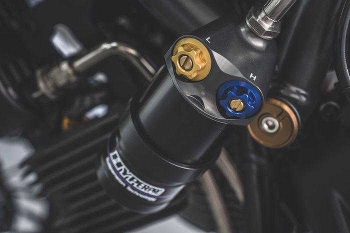 EyeEm Selects High Angle View No People Close-up Technology Motor Motorcycle Motorbike Moto Day Suspension Shock Shock Absorber Macro Cafe Racer Scrambler Ducati Biker