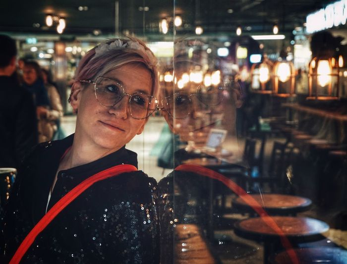Waiting Cafe 2019 Niklas Storm April Illuminated Eyeglasses  Blond Hair Business Finance And Industry Mid Adult Retail Display Window Display Exploring Fun My Best Photo