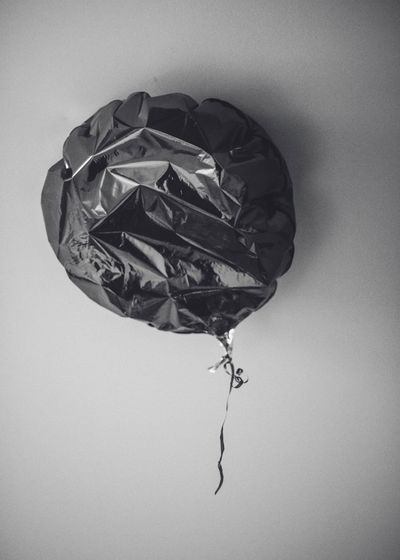 Sad balloon Time Joy Play Scotland Monochrome Close-up No People Indoors  Day Directly Above Damaged Textured  Hanging Still Life Single Object Misfortune Low Angle View