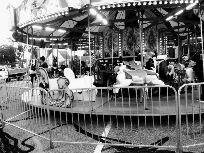 Black and white carousel Outdoors Carousel Leisure Activity Festival Nostagia Blackandwhite First Eyeem Photo