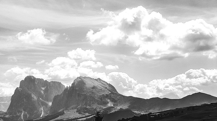 Dolomites in Black and White EyeEm Best Shots EyeEm Nature Lover EyeEm Best Shots - Nature EyeEm Best Shots - Black + White Black And White Blackandwhite Mountain Nature Sky Beauty In Nature Cloud - Sky Outdoors Day Snow Landscape Low Angle View Scenics Tranquility Mountain Range No People