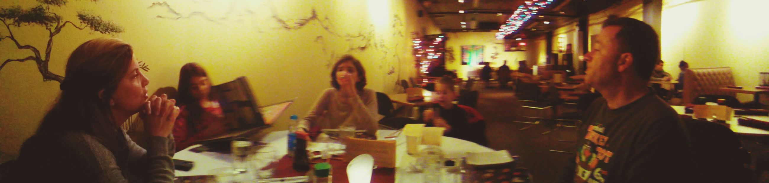 Out for sushi for Mom's Birthday :) Sushi Dining Family Restaurant